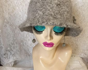 Toasted Almond Vintage Inspired Crocheted Felted Cloche Flapper Hat 'Molly'