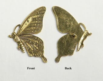 Large Side View Butterfly Button - 3.00 ea. - BE 1518