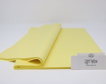 """Light Yellow Tissue Paper - 15"""" x 20"""" - 96 Sheets"""