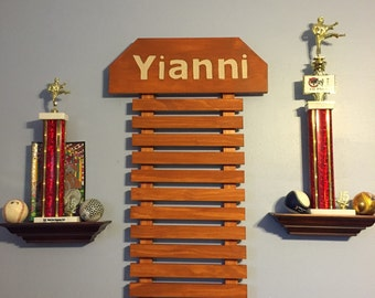 Martial Arts Display for 15 Belts & choice of 9 Colors NOW IN HONEYCOMB