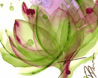 Moderne botanische kunst Print, artisjok bloem, 8 x 8 botanische Print