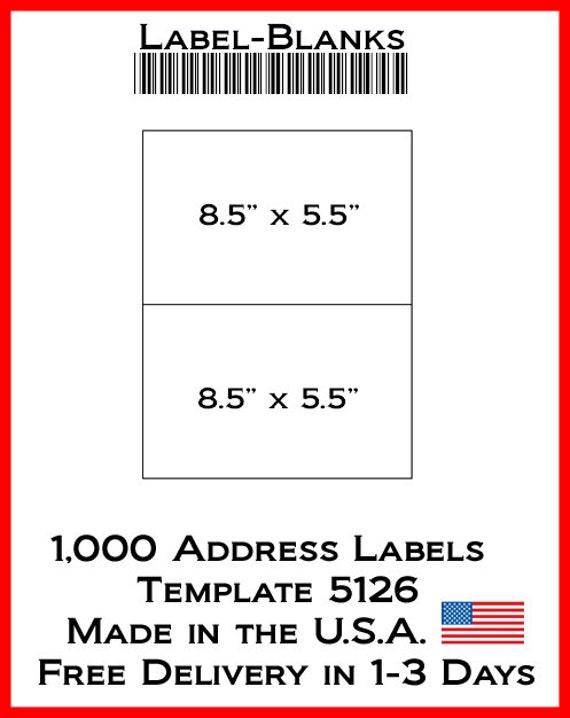 Laser / Ink Jet etiquetas 500 hojas-8 1/2 x 5