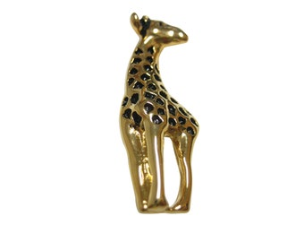 Gold and Black Toned Giraffe Magnet