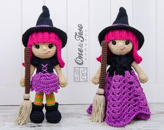 Combo Pack - Willow the Witch Lovey and Amigurumi Set for 7.99 Dollars - PDF Crochet Pattern - Instant Download - Special Offer Pack