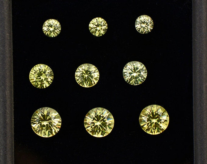 Gorgeous Yellow Grandite Garnet Gemstone Set from Mali 3.19 tcw.