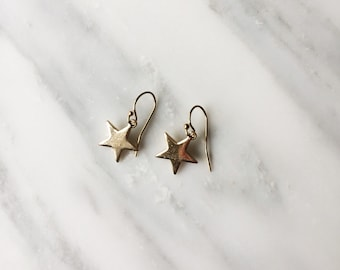 HELLO Star Shine Earring! Star earring, Gold Star Jewelry, birthday gift,