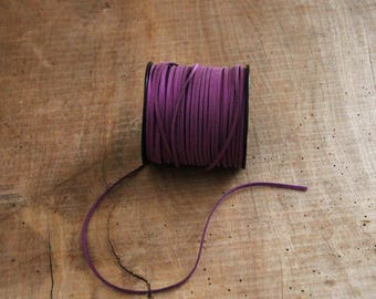 Purple suede cord 1 m