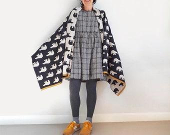Merino wool  blanket, blanket scarf, oversized scarf shawl blanket, shawl scarf for men, mens big scarf, wrap blanket scarves, throw blanket