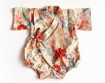 Baby Kimono Romper New Baby Gift Newborn Bodysuit Gender