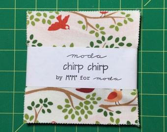 Super SALE : Chirp Chirp charm pack MoMo moda fabrics OOP HTF