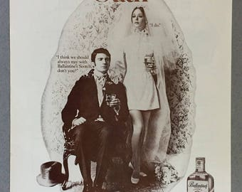 "1970 Ballantine's Scotch Print Ad - ""Be a Ballantine's Loyalist"""