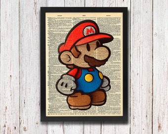 Paper Mario Dictionary Art