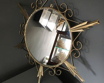 1950's sunburst convex mirror