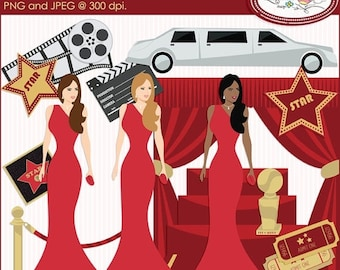 50%OFF Red carpet clipart, Hollywood clipart, Oscar ceremony clipart, Grammy awards clipart, celebrity clipart, movies clipart, P110