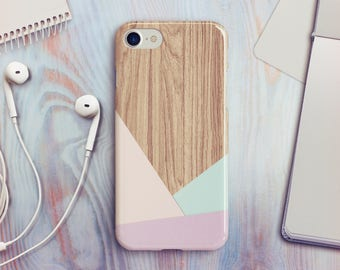 Wood Geometric iPhone 7 Case Geometric iPhone 8 Case iPhone X Case iPhone 6s Case iPhone 5s Case iPhone SE Case iPhone 8 Plus Case A23