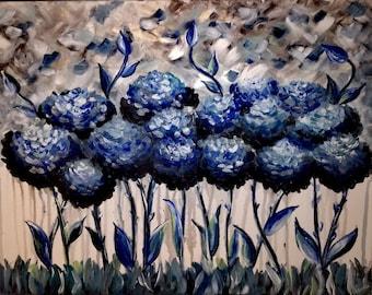 Blue hydrangeas by Nardea