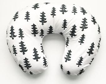 Nursing Pillow Cover Black Trees. Nursing Pillow. Nursing Pillow Cover. Minky Nursing Pillow Cover. Black Nursing Pillow Cover.
