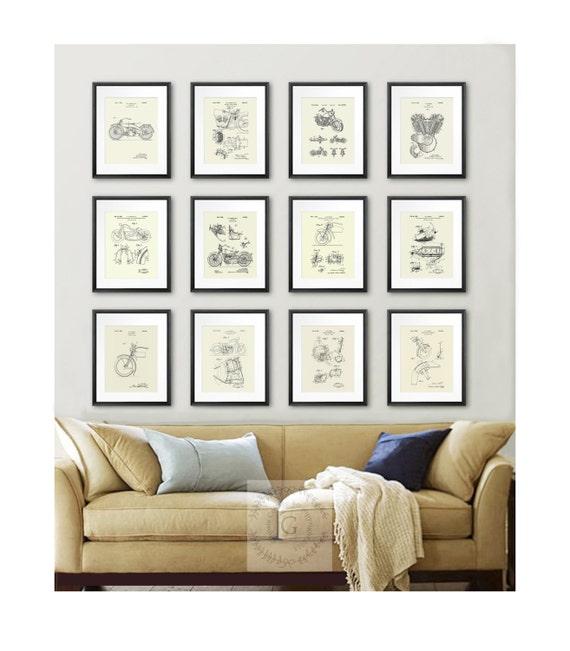Biker home decor harley davidson art posters set of 12 like this item teraionfo