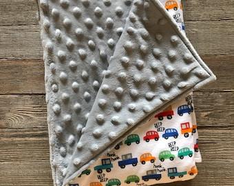 Beep beep stroller blanket
