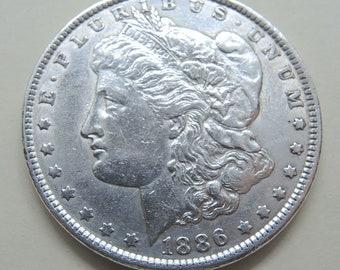 1886 Morgan Silver Dollar Vintage Silver Dollar Collectible Coins Silver Coins FREE Shipping
