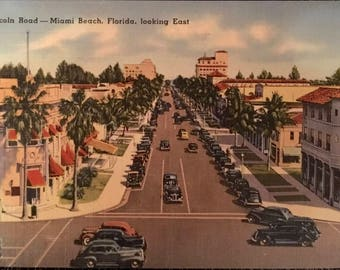 Lincoln Road - Miami Beach, Florida, looking East