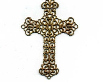 1 print watermark - copper - raw shape cross-size 52 x 37 mm