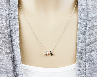 Lower Case Necklace Initial Necklace Bridesmaid Gift Bridesmaid Necklace