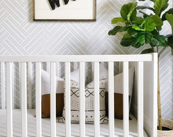 Soft Herringbone removable wallpaper, Peel and stick wall covering, Herringbone wall #132
