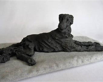 Irish Wolfhound/Unique Dog Sculpture/Unique Wolfhound Sculpture