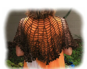 Chains Shawlette Crochet Pattern in PDF