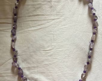 Light and Dark Amethyst.  32 inches