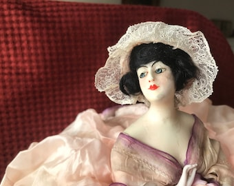 Rare wax doll,pillow doll! On sale was 85.00 , now 65.00