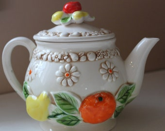Fred Roberts fruit and daisy vintage tea set