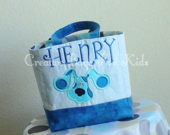 Blues clues Tote Bag/ Blues Clues Lunch Bag/ Blues Clues Kids Tote Bag/ Kids Tote Bag/ toddler tote bag/Child tote bag/Personalized tote bag