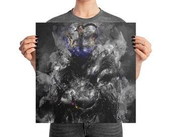 SARYN PRIME WARFRAME Square Poster Print | Game Art | Man Cave