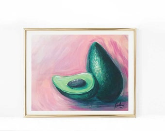 Avocado Print, Home decor, Artwork, Avocado art