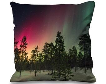 Northern Lights Woodland Faux Silk 45cm x 45cm Sofa Cushion