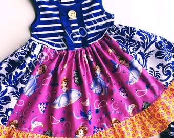 Sophia the first birthday party dress Disney dress by pink momi boutique