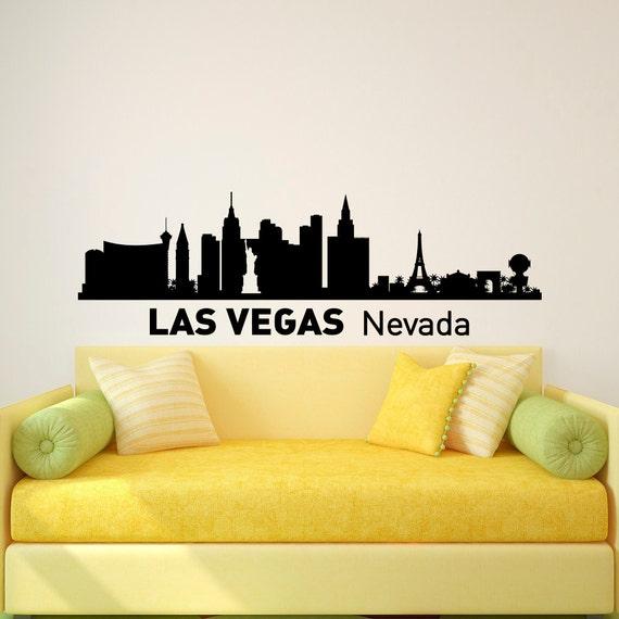 Las Vegas Skyline Wall Murals Las Vegas Cityscape paper wall ...
