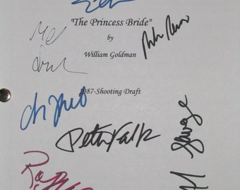 The Princess Bride Signed Film Movie Screenplay Script 9X Peter FALK Rob Reiner Cary Elwes Fred Savage Robin Wright Christopher Guest Kane