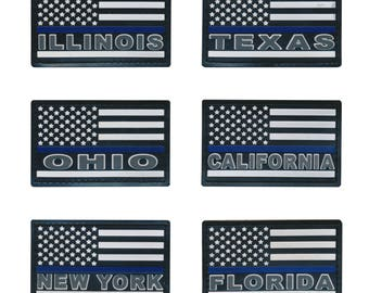 Tactical Blue Line United States Police PVC Patches