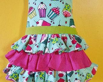 cupcake girl apron