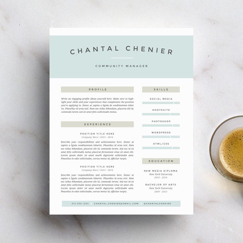 Plantilla de currículum vitae creativos y carta plantilla para