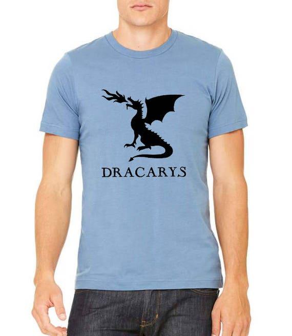 Dracarys Khaleesi Dragon Fire Got Thrones Show North Wall Men's Tri-Blend T-Shirt DT1926 s8O6O