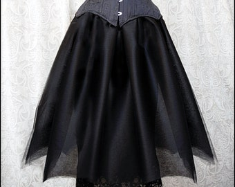 "Sheer Black Vintage Batwing Ballet Skirt by original Kambriel label ""Atrocities"" - Black Crinoline - Never worn & Ready to Ship!"
