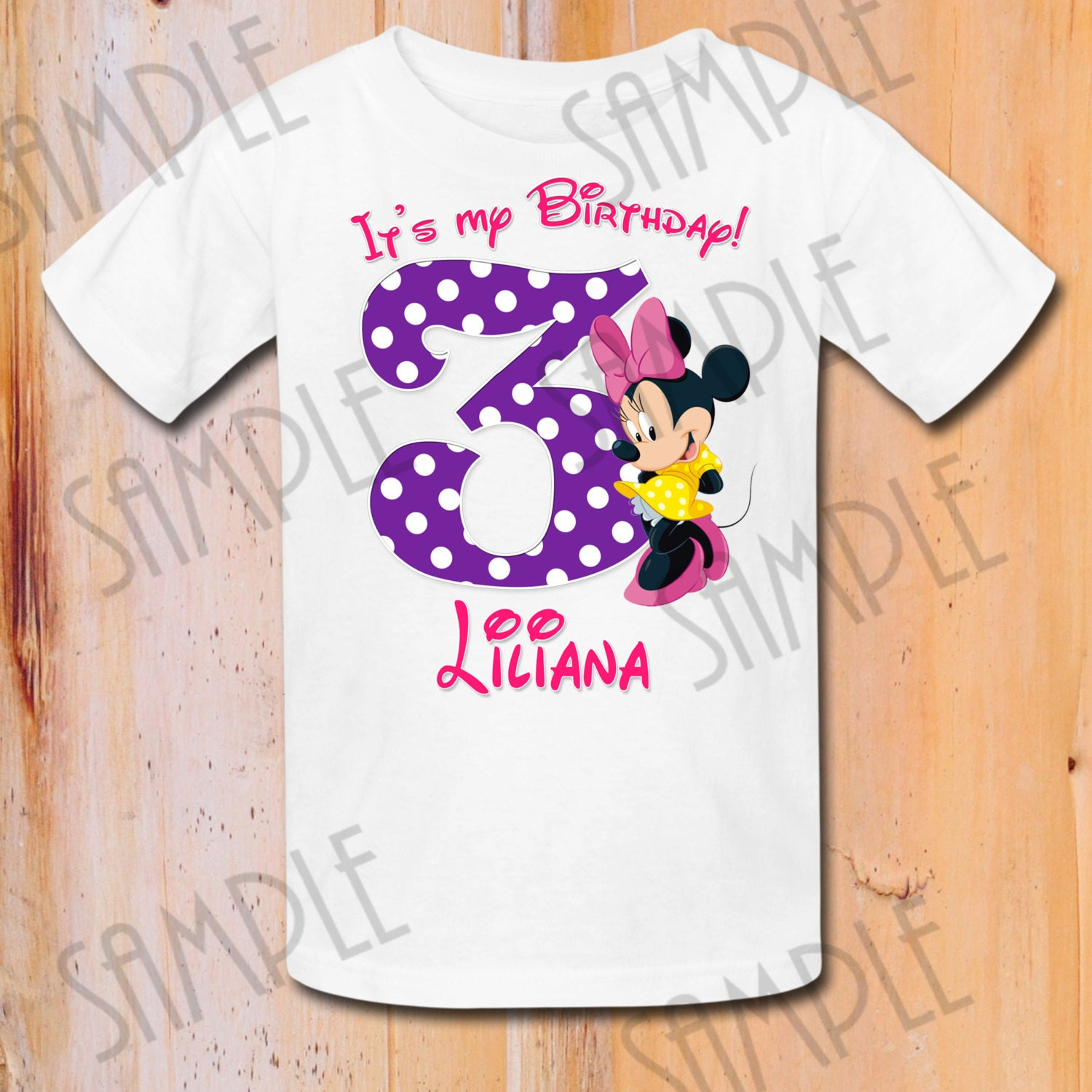 Disney Minnie Mouse Iron On Transfer Printable Birthday Boy