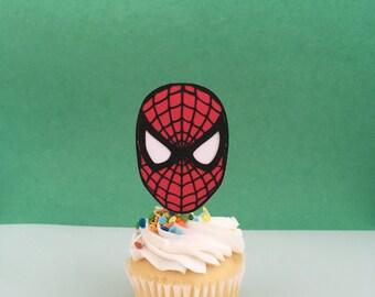 Spiderman Inspired Cupcake Topper
