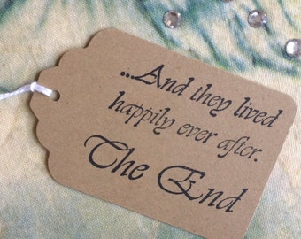 Happily Ever After Wedding Favor Tags / Fairytale Wedding / Storybook Wedding