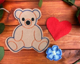 Kaylee Patches: Bear, Heart & Flower