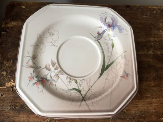 Set of 4/saucers/Mikasa/continental/casa grande (decoration)/F3011/made in Japan chinoiserie